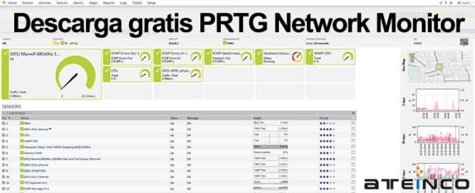 Descarga gratis PRTG Network Monitor - Ateinco Informática
