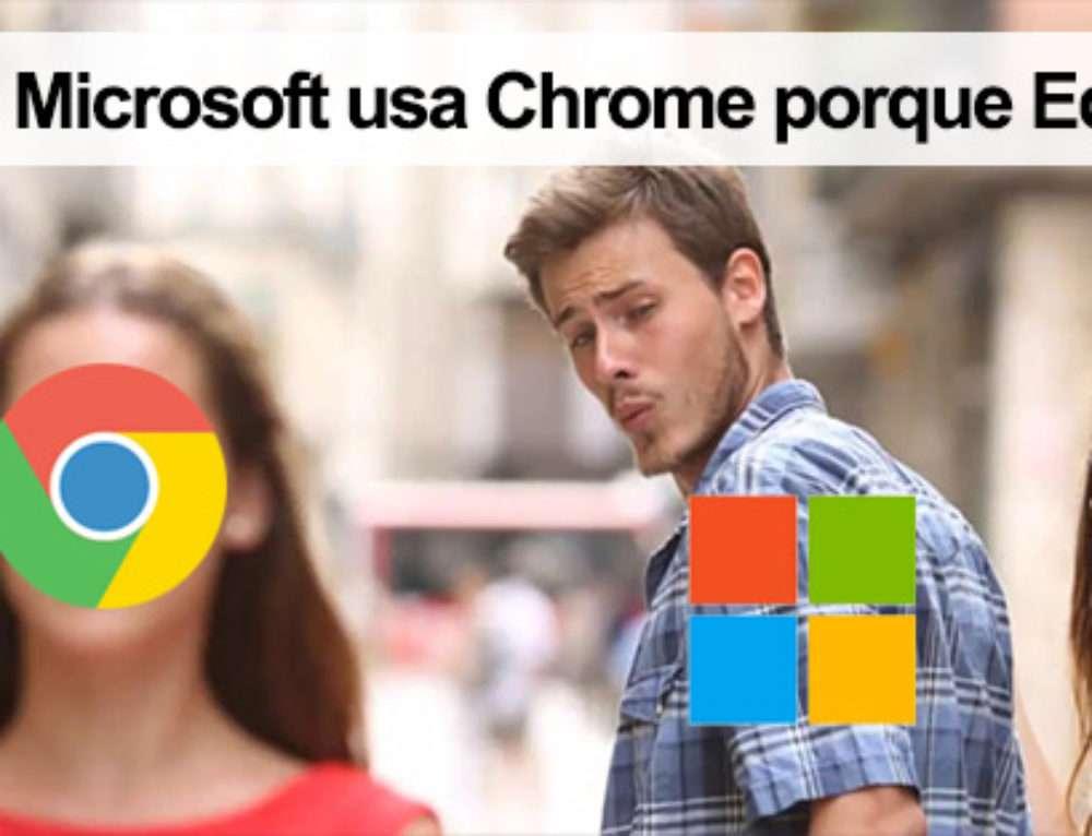 Empleado de Microsoft usa Chrome porque Edge se cuelga