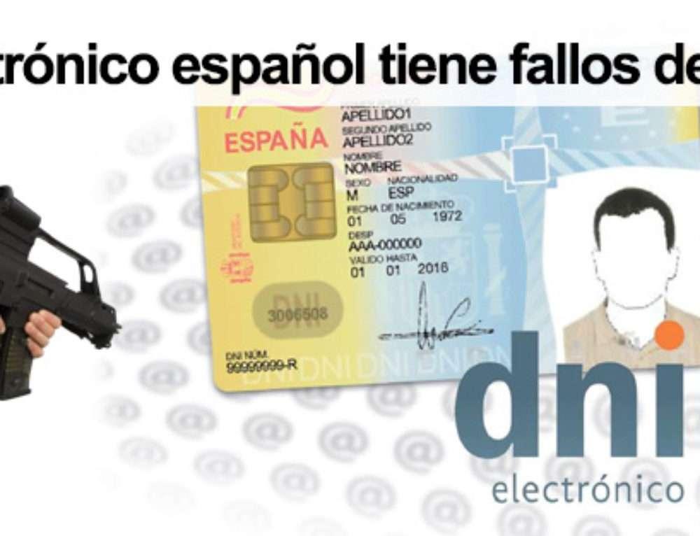 El DNI electrónico español tiene fallos de seguridad